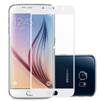 Защитное стекло Samsung Galaxy A3 (2017) на дисплей, с рамкой, белый