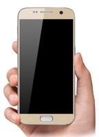 Защитное стекло Samsung Galaxy A3 (2017) на дисплей, с рамкой, золотистый