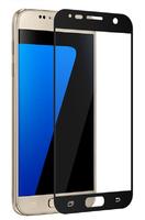 Защитное стекло Samsung Galaxy A3 (2017) на дисплей, с рамкой, черный