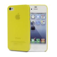 Чехол-накладка на Apple iPhone 4/4S, пластик, тонкий, матовый, желтый