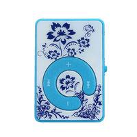 MP3-плеер, клипса, пластик, microSD, узор, голубой