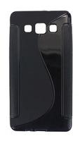 Чехол-накладка на Samsung A3 силикон, S-line, черный