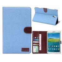 Чехол Smart-cover для Samsung Galaxy Tab S 8.4, полиуретан, текстиль, голубой