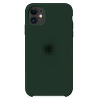 Чехол-накладка на Apple iPhone 11, original design, микрофибра, с лого, темный изумруд