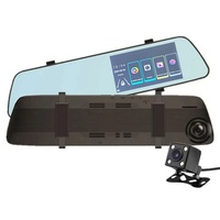 """Видеорегистратор зеркало с камерой заднего вида TDS TS-CAR43, FHD, IPS 4.5"""", сенсор"""