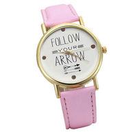 Часы наручные Noname, ц.белый, р.розовый, кожа
