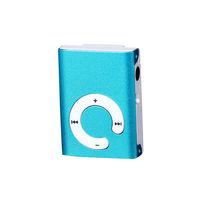 MP3-плеер, клипса, пластик, microSD, (без кабеля, без наушников), голубой