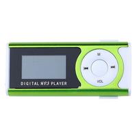 MP3-плеер с дисплеем, microSD, с фонариком, (без кабеля, без наушников), зеленый
