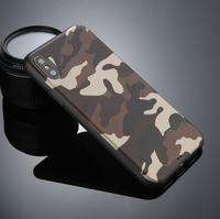 Чехол-накладка на Apple iPhone X/Xs, силикон, камуфляж, коричневый