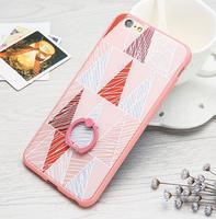 Чехол-накладка на Apple iPhone 6/6S, пластик, 3D, с кольцом, style 1