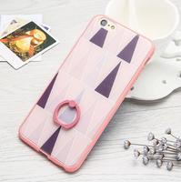 Чехол-накладка на Apple iPhone 6/6S, пластик, 3D, с кольцом, style 2