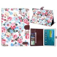 Чехол Smart-cover для Samsung Galaxy Tab S 10.5, полиуретан, текстиль, цветы 2