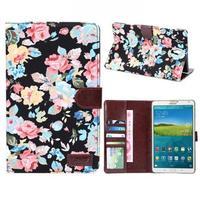 Чехол Smart-cover для Samsung Galaxy Tab S 8.4, полиуретан, текстиль, цветы 2