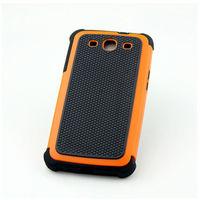 Чехол-накладка на Samsung S3 силикон, противоударный, оранжевый