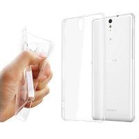 Чехол-накладка на Sony Xperia C5, силикон, ультратонкий, прозрачный