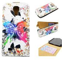 Флип-кейс на Samsung S4 кожа, butterfly