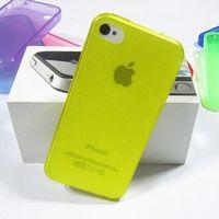 Чехол-накладка на Apple iPhone 4/4S, силикон, матовый, желтый