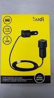 Автомобильное зарядное устройство USB, Budi M8J066, 5.5А, 1xUSB, + кабель удлинитель на 2USB