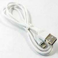 Кабель для iPhone 8pin, Hoco X6 Khaki, 1.2A, 1м, белый