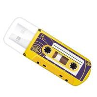 Память USB 2.0 Flash, 32GB, Verbatim Mini Cassette Edition Yellow