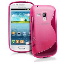 Чехол-накладка на Samsung S3 mini силикон, S-line, розовый