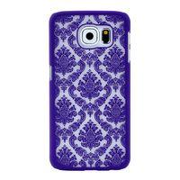 Чехол-накладка на Samsung S6 пластик, узор, фиолетовый