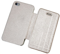 Чехол-книжка на Apple iPhone 4/4S, полиуретан, AG, золотистый