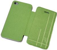 Чехол-книжка на Apple iPhone 4/4S, полиуретан, AG, зеленый
