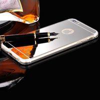 Чехол-накладка на Apple iPhone 6/6S Plus, силикон, зеркальный, серебристый