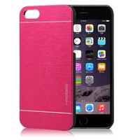 Чехол-накладка на Apple iPhone 4/4S, пластик, алюминий, Motomo, красный