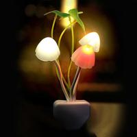 Светодиодный ночник, Грибы, датч. освещенности, 0.2Вт