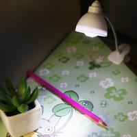 Светодиодный ночник, Лампа, на прищепке, пит. от батареек, белый