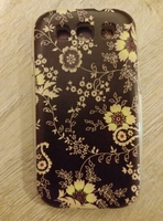 Чехол-накладка на Samsung S3 силикон, flower
