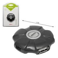 USB-хаб 2.0, Smart Buy UFO SBHA-143-K, 4 порта, серый