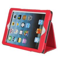 Чехол Smart-case для Apple iPad mini 1,2,3, кожа, красный