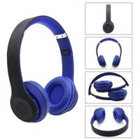 Гарнитура беспроводная, Noname STN-019, Bluetooth, TF, FM, стерео, синий