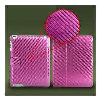 Чехол Smart-cover для Apple iPad 2/3/4, карбон, розовый