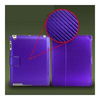 Чехол Smart-cover для Apple iPad 2/3/4, карбон, фиолетовый