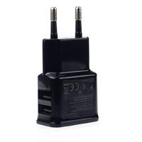 Сетевое зарядное устройство USB, Noname, 2А, 2xUSB, черный