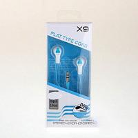 Наушники X9, вакуумные, белый/синий