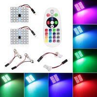 Лампы LED, T10, C5W, RGB, управление с ПДУ, 36 диодов, 2 шт.