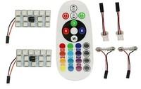 Лампы LED, T10, C5W, RGB, управление с ПДУ, 15 диодов, 2 шт.