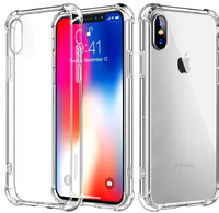 Чехол-накладка на Apple iPhone XS Max, силикон, прозрачный