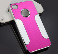 Чехол-накладка на Apple iPhone 5/5S, пластик, алюминий, розовый