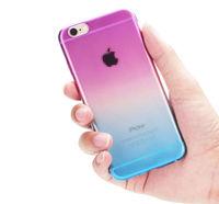 Чехол-накладка на Apple iPhone 5/5S, силикон, градиент, фиолетово-розовый
