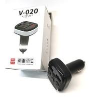 FM-модулятор, V-020, Bluetooth, 2xUSB, AUX, mSD