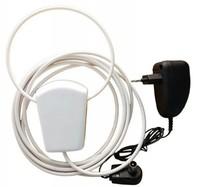 Антенна комнатная Уралочка Tvix, с усилителем 39Дб, кабель 3 метра, блок питания