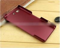 Чехол-накладка на Sony Xperia Z3 compact пластик, бордовый