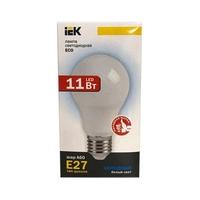 Лампа светодиодная, IEK ШАР-A60, E27, 11W, 3000K