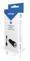 Автомобильное зарядное устройство USB, SmartBuy, 2.1А, 1xUSB, + кабель microUSB (SBP-1503MC-V)